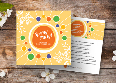 MARANATHA HEALTH SPRING PARTY INVITATIONS