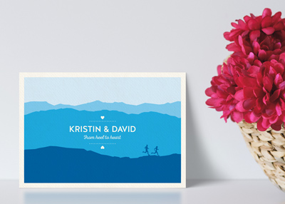 KRISTIN & DAVE'S WEDDING STATIONERY