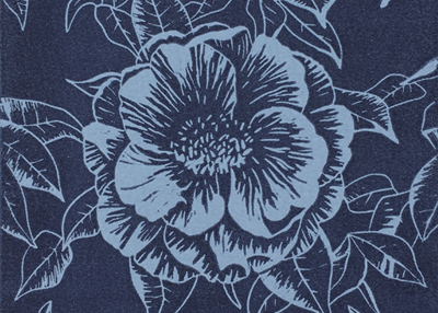MIDNIGHT CAMELLIA – original linoprint